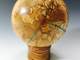 Spalted Sphere Globe