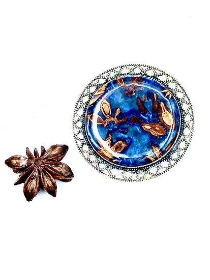 Star Anise Brooch Pin
