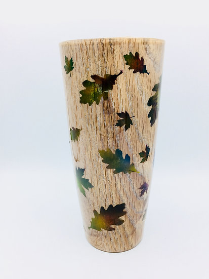Autumn Falling Leaves Vase