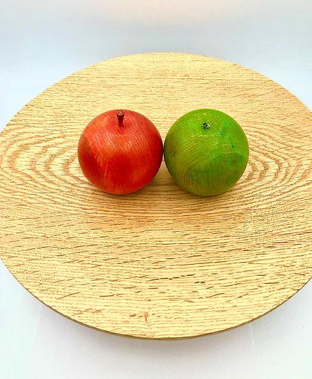 Round Oak Wood Platter