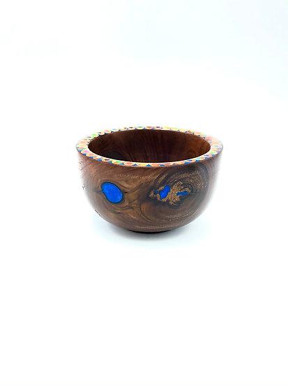 Walnut Colored Pencil Bowl