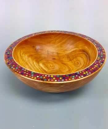 Colored Pencil Rim Bowl