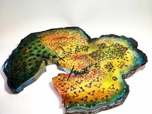 Genesis Wood Art Platter