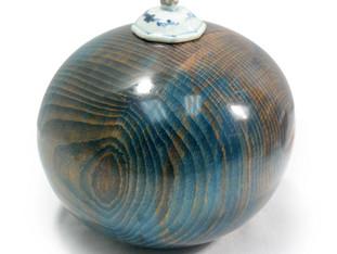 Blue Sphere Urn
