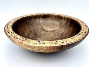 Walnut Bowl with Pencil Rim