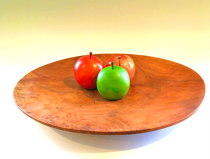 Large Cherry Burl Fruit Platter