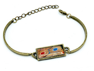 Metal Colored Pencil Bracelet
