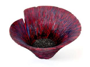 Wood Carved Poppy Flower