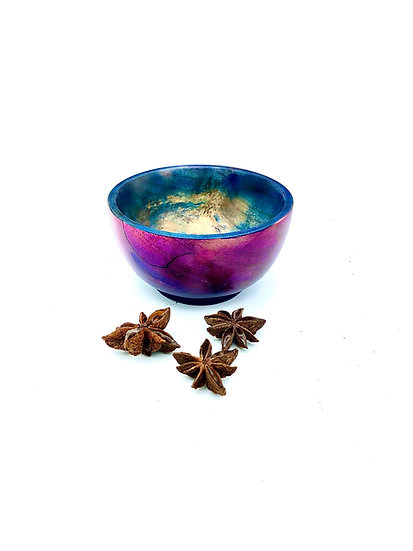 Red Blue Burl Bowl