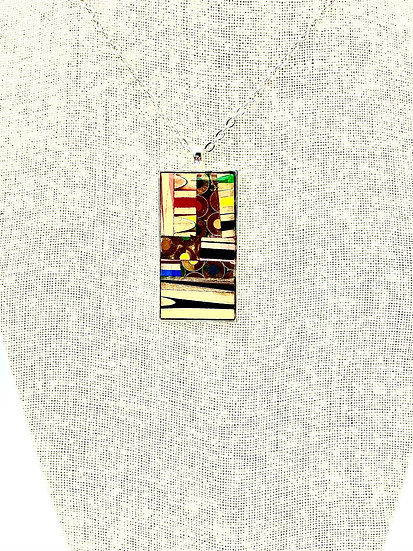 Rectangle Colored Pencil Pendant