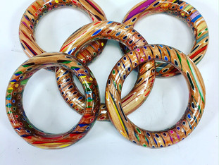 Colored Pencil Bangles
