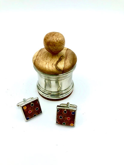 Pewter and Wood Ring Box