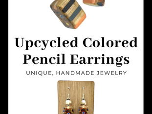 Lightweight Colored Pencil Earrings