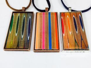 Rectangular Colored Pencil Pendants