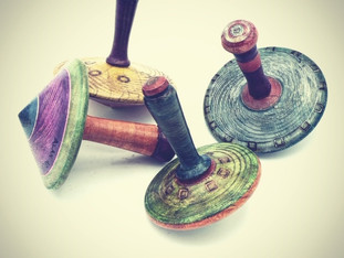 Colorful Wood Spinning Tops