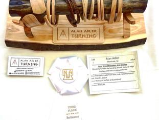 Award for Bent Wood Bracelets