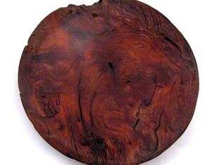Burned Redwood Platter