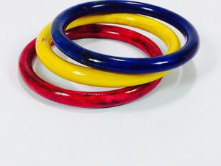 Primary Color Wood Bracelets