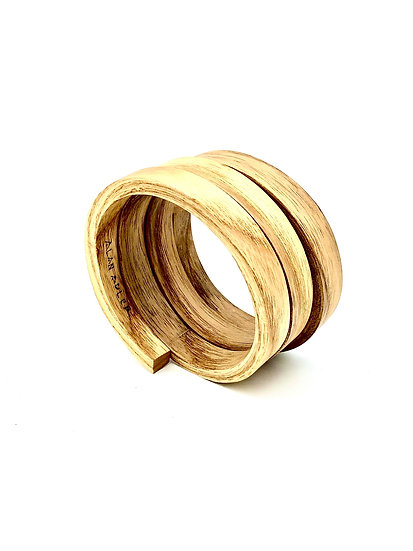 Coiled Elm Wood Bracelet