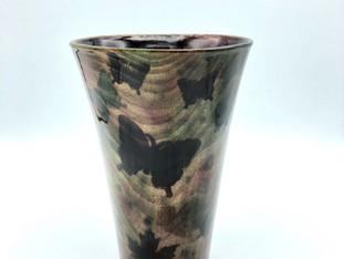 Wooden Butterfly Vase