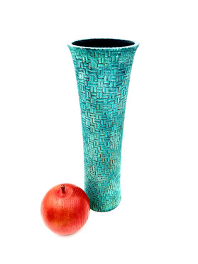 Patina and Pyrography Vase