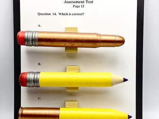 Assessment Test Pencils and Bullets