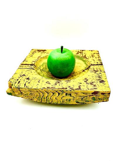 Vintage Yellow Milk Painted Platter