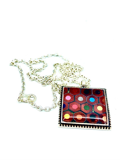 Colored Pencil Pendant Necklace