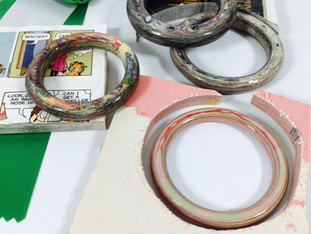 Laminated Paper Turned Into Bangles