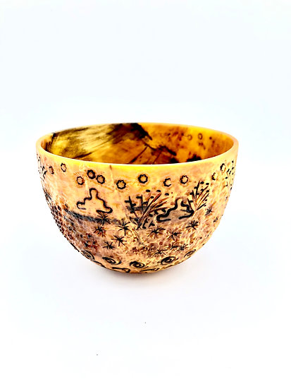 Planet Earth Bowl - Wood Art