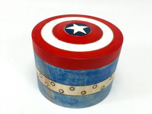 Captain America Wood Box