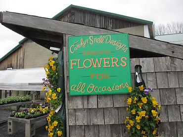 Carolyn Snell Designs sign at the farm