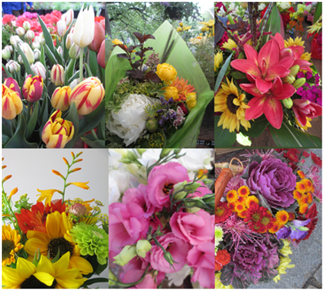 a variety of seasonal bouquets