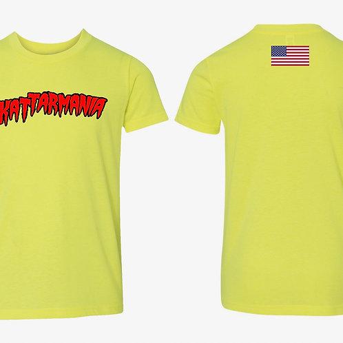 Kattarmania Youth Unisex Yellow T-Shirt
