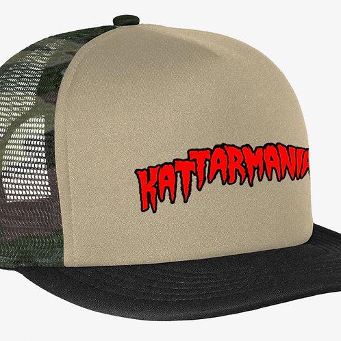 Kattarmania Trucker Hat (Beige/Camo)