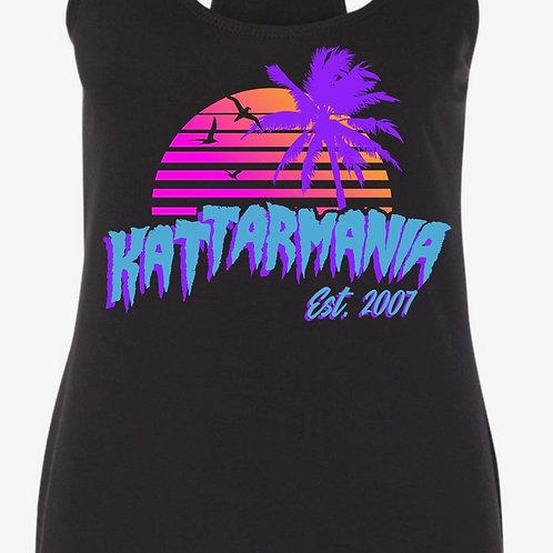 Kattarmania Ladies Black Retro Style Tank Top