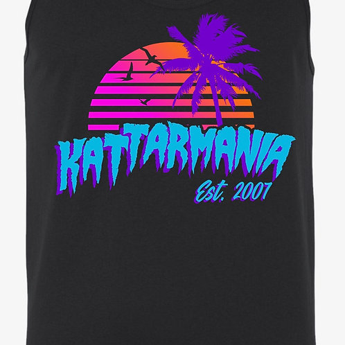 Kattarmania Black/Retro Tank Top