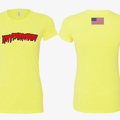 Kattarmania Ladies Yellow T-Shirt