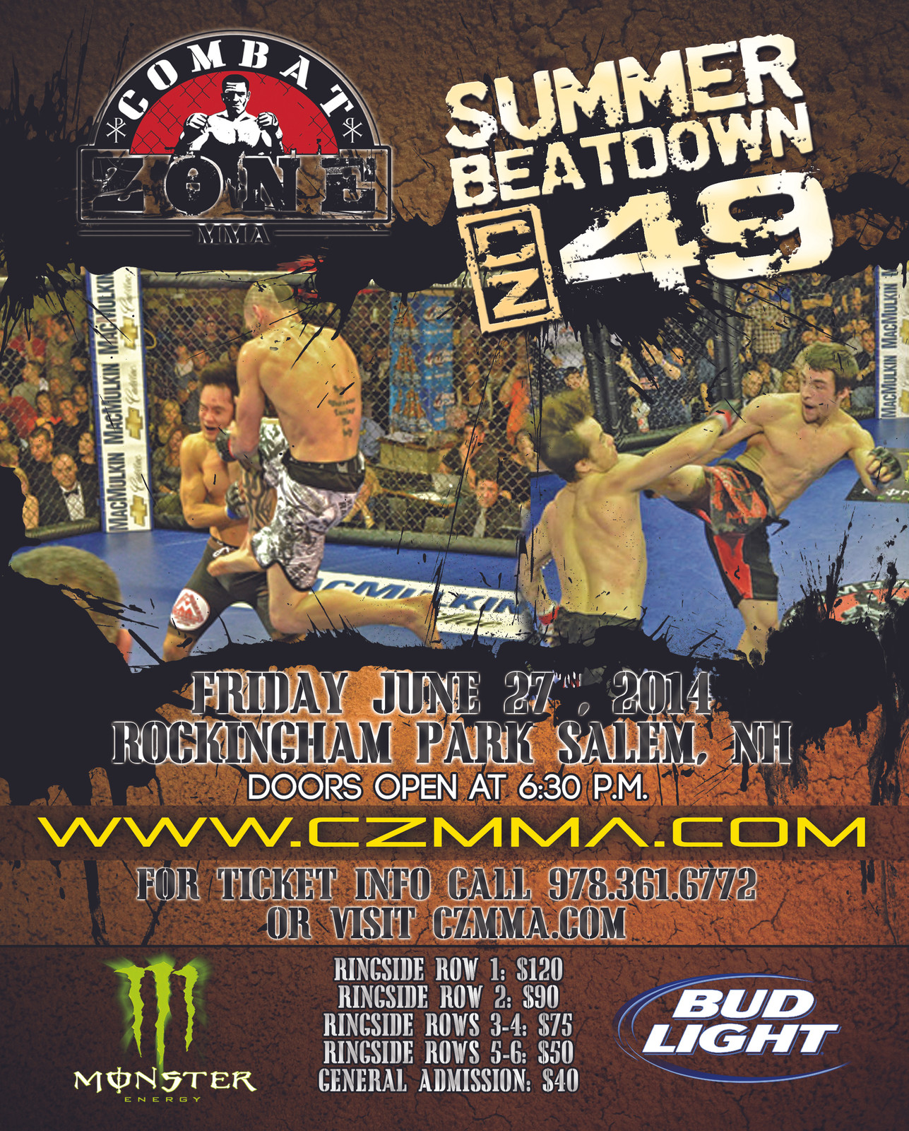 Fullscreen Page | Combat Zone MMA | Combat Zone, LLC