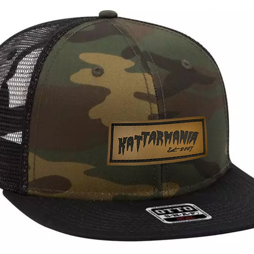 Kattarmania Camo Trucker w/ Leather Patch