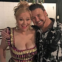 "Joe Patrick Ward with Caroline Rhea at ""Very Sordid Wedding"" Premiere"