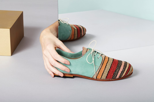 Classical Oxfords Made From Vintage Moroccan Rugs