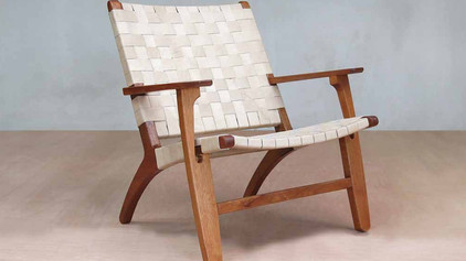 Sustainably Harvested Mid-Century Modern Lounge Chairs