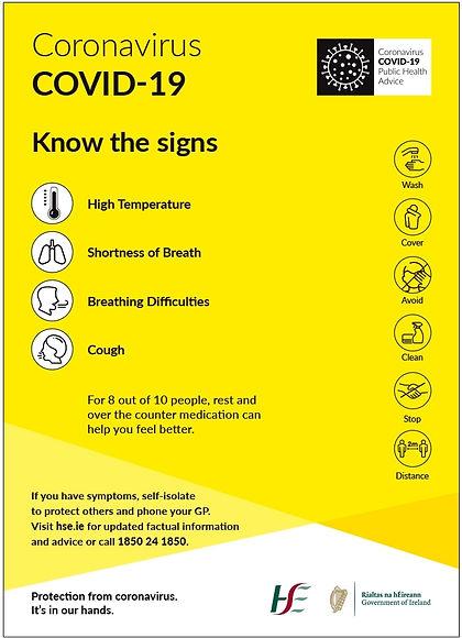 coronavirus know the symptoms hse sign.j