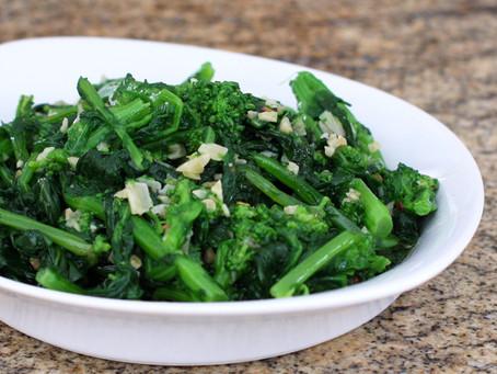 Garlic Sautéd Broccoli Rabe