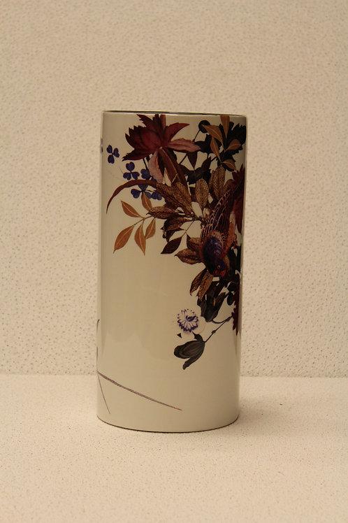 Vaas met bloemen/vogels