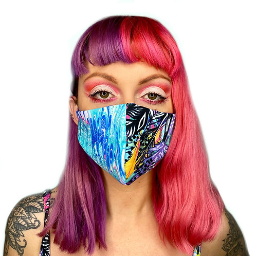 The Lucid Lagoon Reversible Face Mask