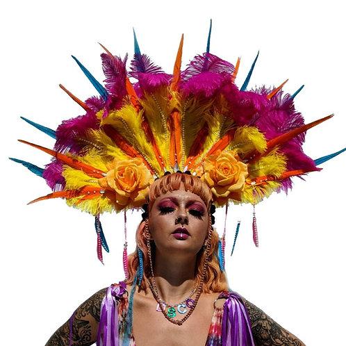 The Disco in Vegas Feather Headpiece