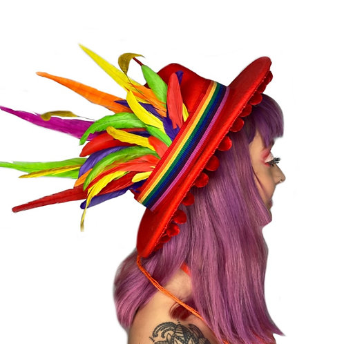 The Pride Feather Trilby Hat