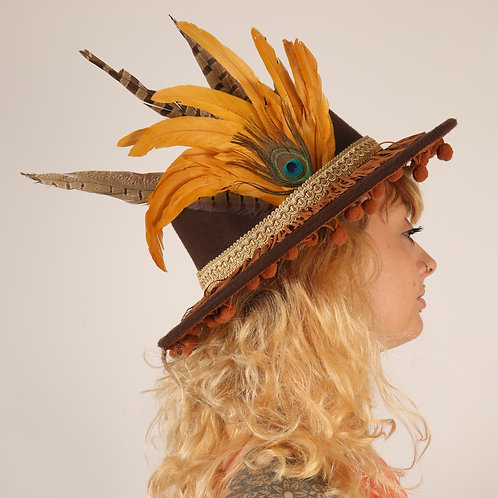 The Agra Feather Trilby Hat